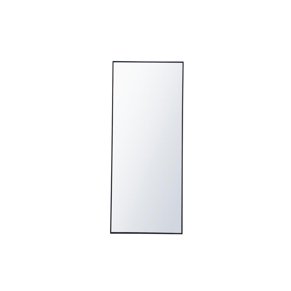 Oversized Rectangle Blue Modern Mirror (72 in. H x 30 in. W)