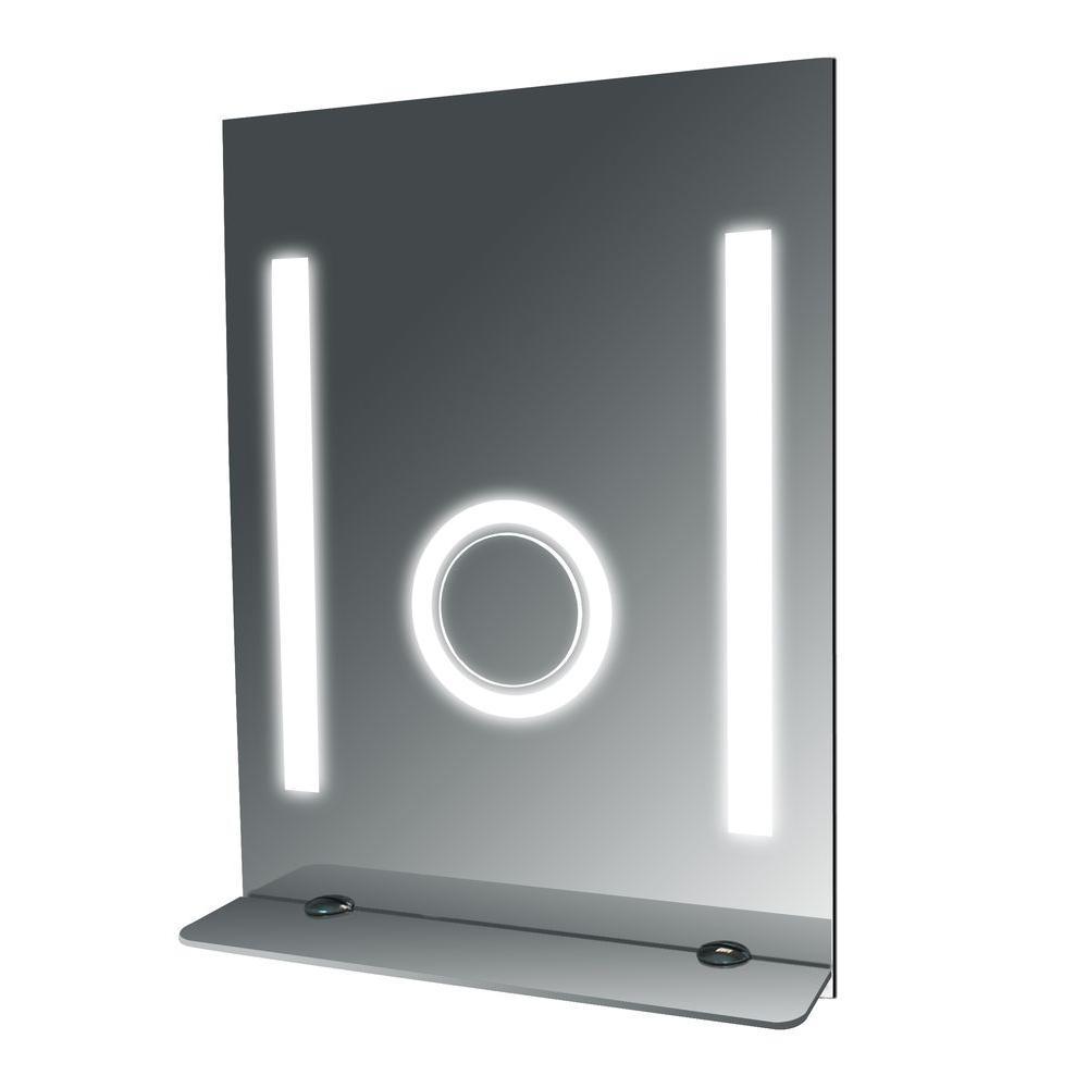 24 in. W x 32 in. L Fog Free Glass Shelf Wall Mirror