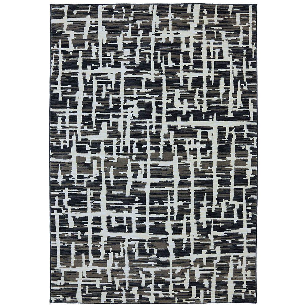 Karastan Grasscloth Black 8 ft. x 10 ft. Area Rug