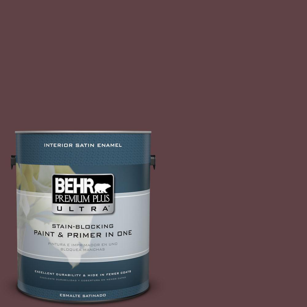 BEHR Premium Plus Ultra 1-gal. #S-G-700 Wild Raisin Satin Enamel Interior Paint