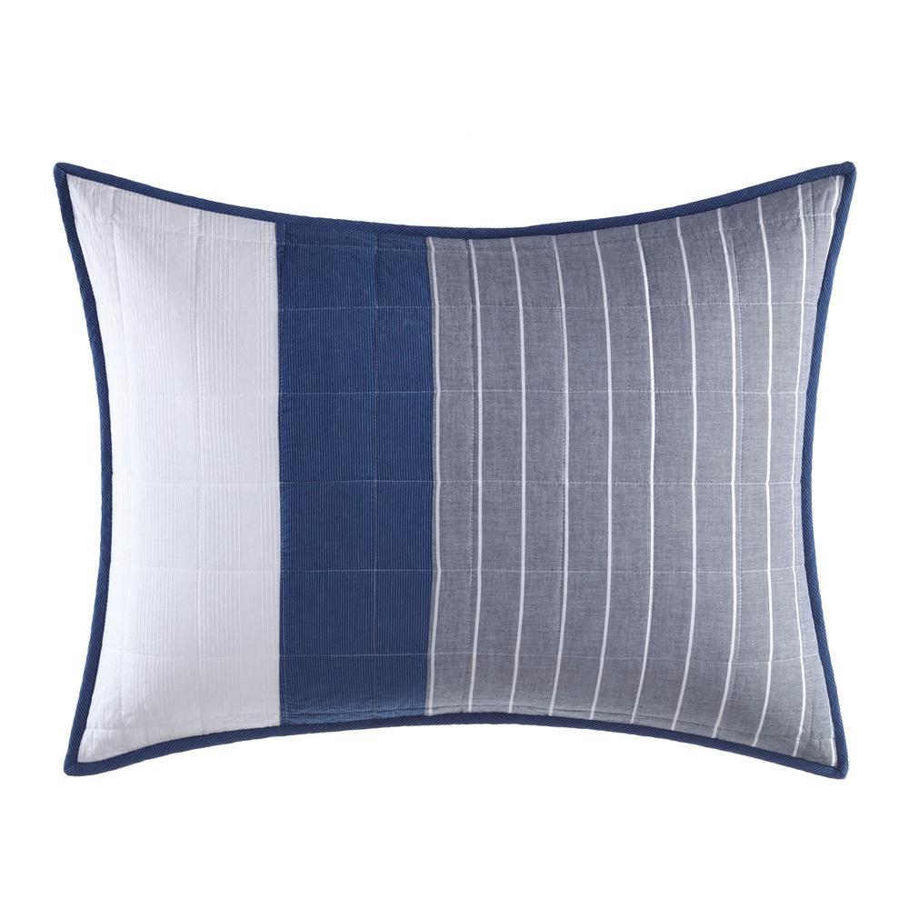 Swale Dark Blue Standard Pillow Cover