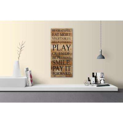 BE GRATEFUL SMILE PAY IT FORWARD Reclaimed Wood Decorative Sign