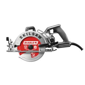SKILSAW 15 Amp Corded 7-1/4 Worm Drive Circular Saw with 24-Tooth Carbide Tipped Diablo Blade
