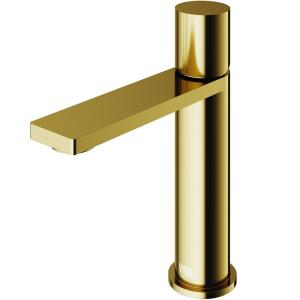Halsey Single Hole Single-Handle Bathroom Faucet in Matte Gold