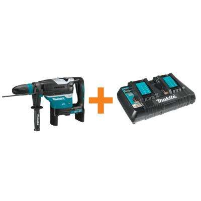 18-Volt X2 LXT Brushless 1-9/16 in. Rotary Hammer with AWS (Tool Only) and Bonus 18-Volt LXT Dual Port Rapid Charger