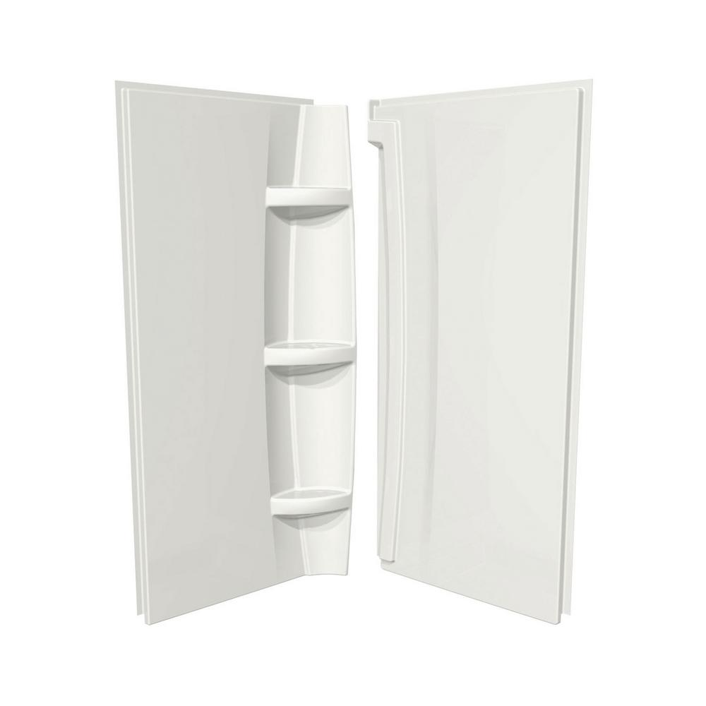 MAAX Acrylic 38 in. 38 in. x 72 in. 2-Piece Direct-to-Stud Corner ...