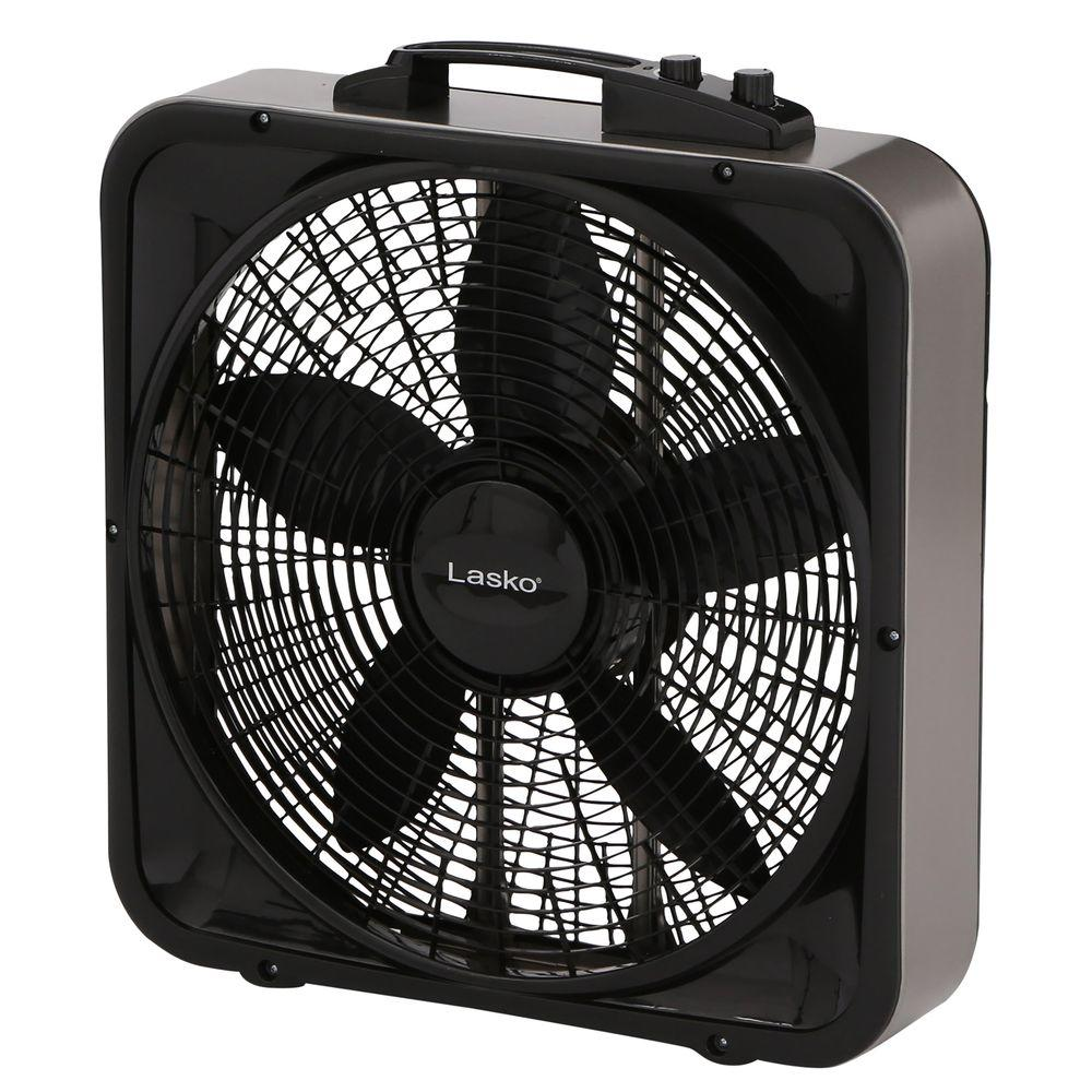 Lasko Weather-Shield Select 20 in. 3-Speed Box Fan with Thermostat