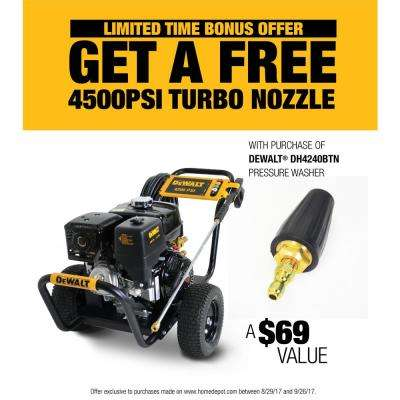 4200 PSI at 4.0 GPM Belt Drive Gas Pressure Washer Powered by HONDA with Bonus Turbo Nozzle