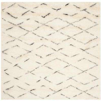 Casablanca Ivory/Brown 6 ft. x 6 ft. Square Area Rug