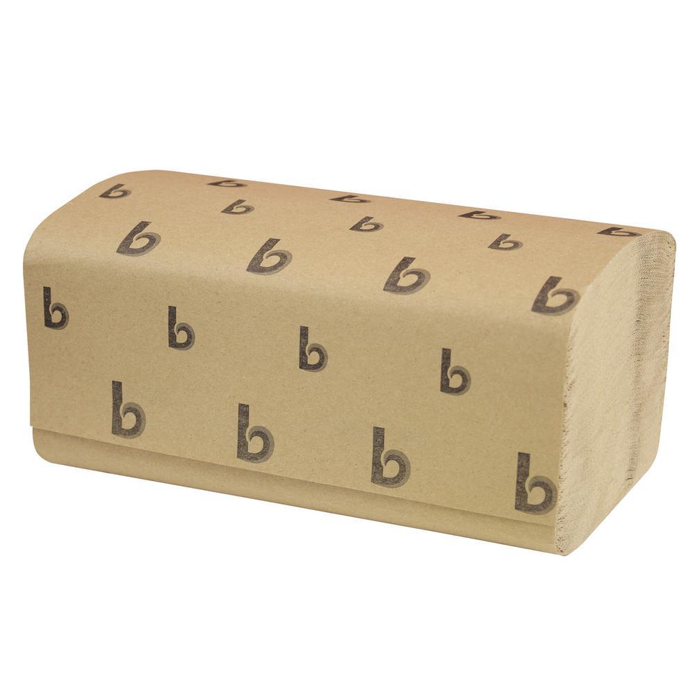 Brown Kraft Singlefold Paper Towels (16-Pack) ShopFest Money Saver