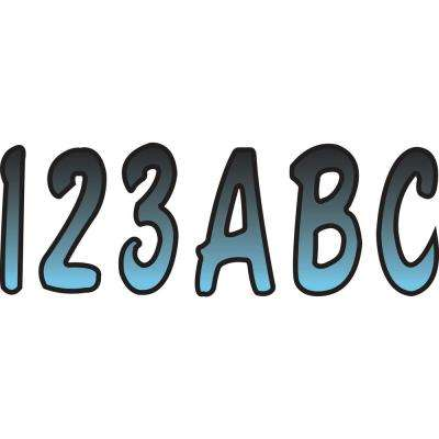 Series 200 Registration Kit, Cursive Font With Top to Bottom Color Gradations, Bluejay/Black