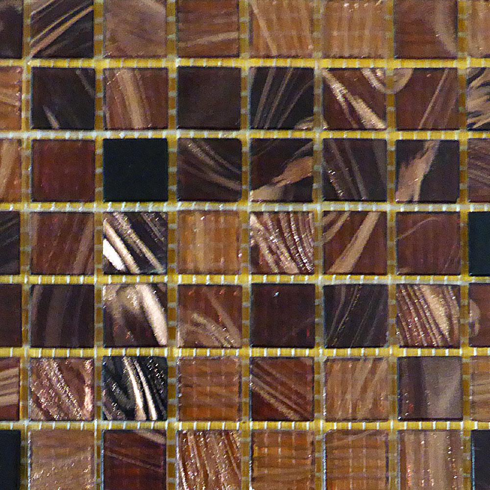 Bellaterra Home Brown Black 12 In X 4 Mm Gl Mosaic