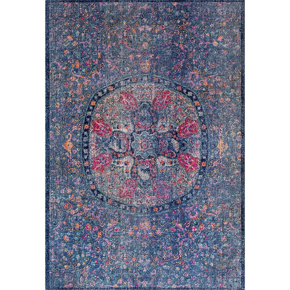 Celina Floral Mandala Navy 5 ft. x 7 ft. Area Rug