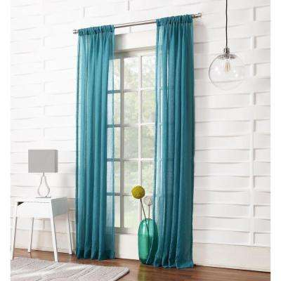 No. 918 Millenial Laguna Sheer Rod Pocket Curtain Panel