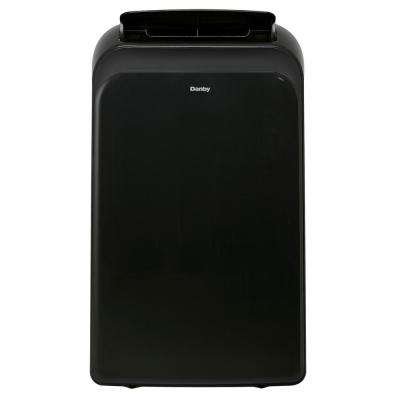 14,000 BTU (9,000 BTU, DOE) Portable Air Conditioner with Heat Pump and Dehumidifier in Black