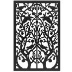 Tree of Life 32 in. x 4 ft. Black Vinyl Decorative Screen Panel