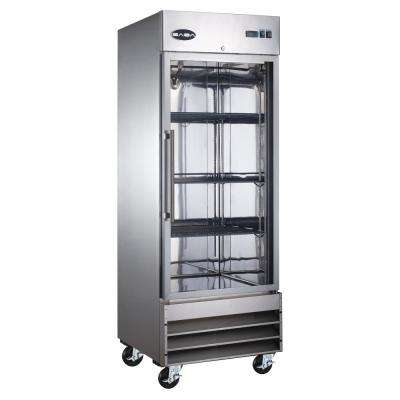 29 in. W 23 cu. ft. One Glass Door Commercial Refrigerator in Stainless Steel