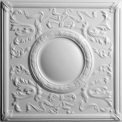 Bella White 2 ft. x 2 ft. Lay-in or Glue-up Ceiling Panel (Case of 6)