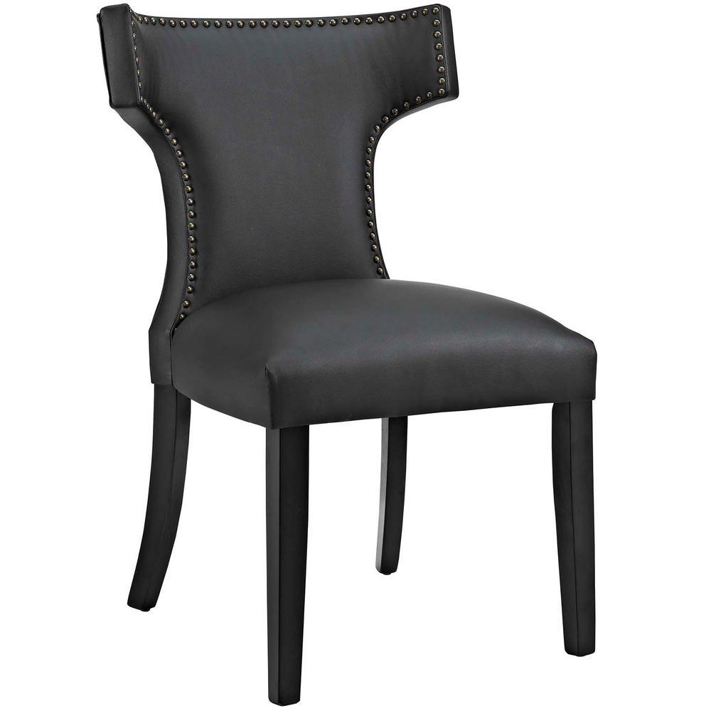 Curve Black Vinyl Dining Chair