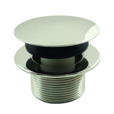 1-1/2 in. NPSM Round Mushroom Coarse Thread Drain in Polished Nickel