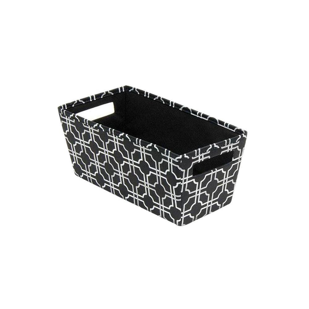 6.5 in. x 5.8 in. x 13.3 in. Decorative Fabric Quarter Storage Bin in Nautical Knot (4-Pack)