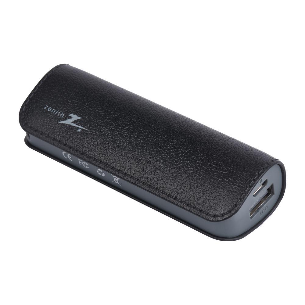 2600mAh Portable Phone Charger, Black