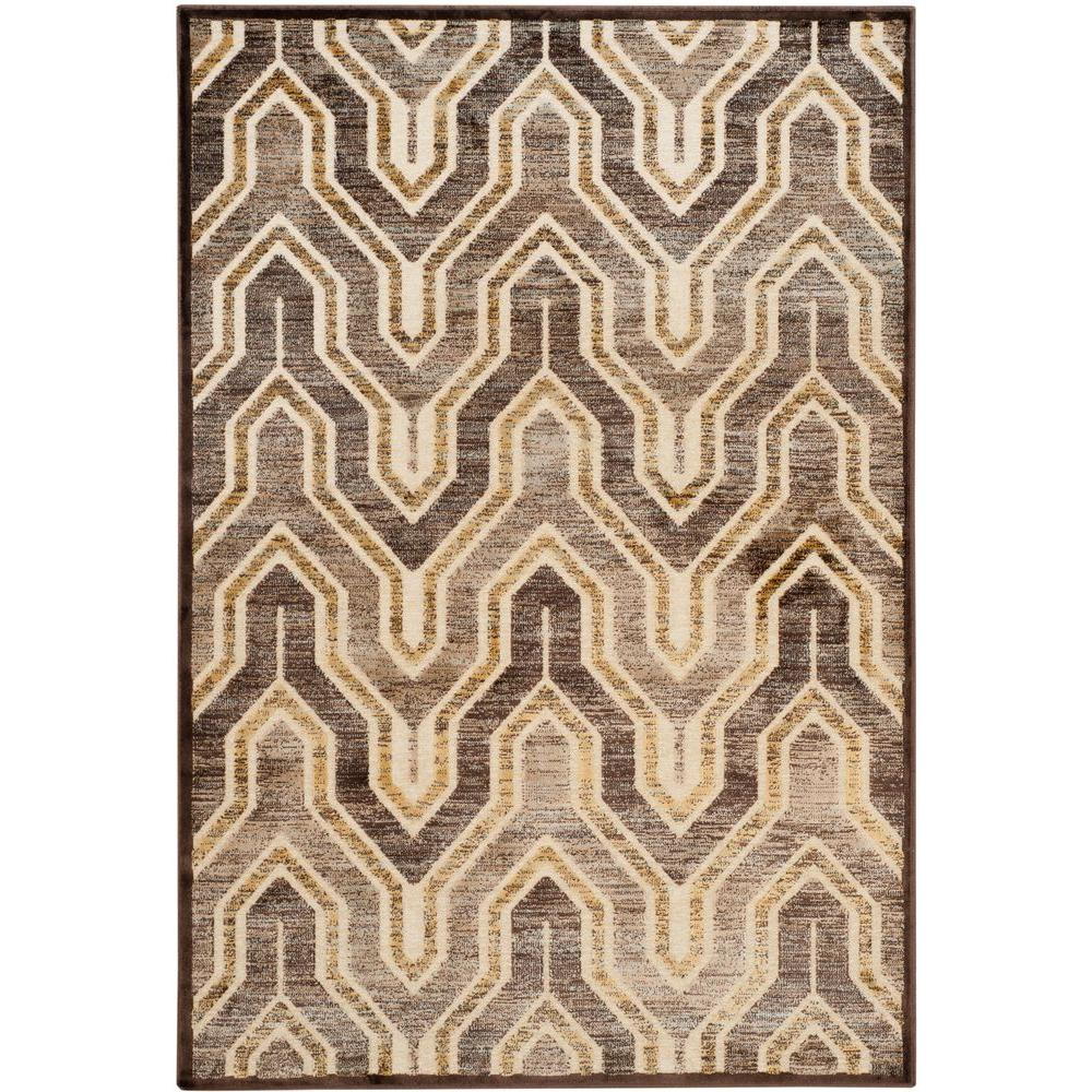 Paradise Cream/Brown 4 ft. x 5 ft. 7 in. Area Rug