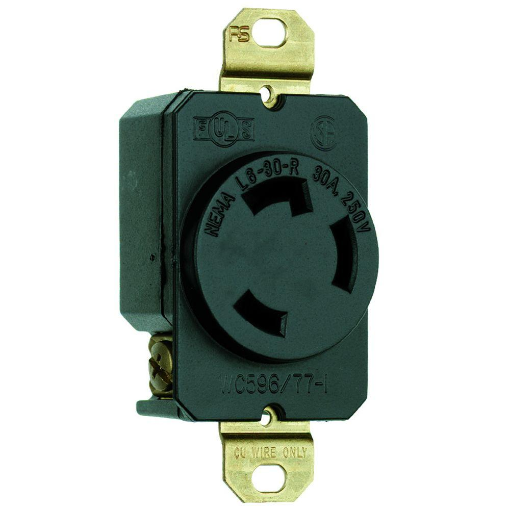 black legrand pass seymour outlets receptacles l630rccv3 64_1000 leviton 30 amp surface mount power single outlet, black r60 05054 leviton 220v receptacle wiring diagram at edmiracle.co