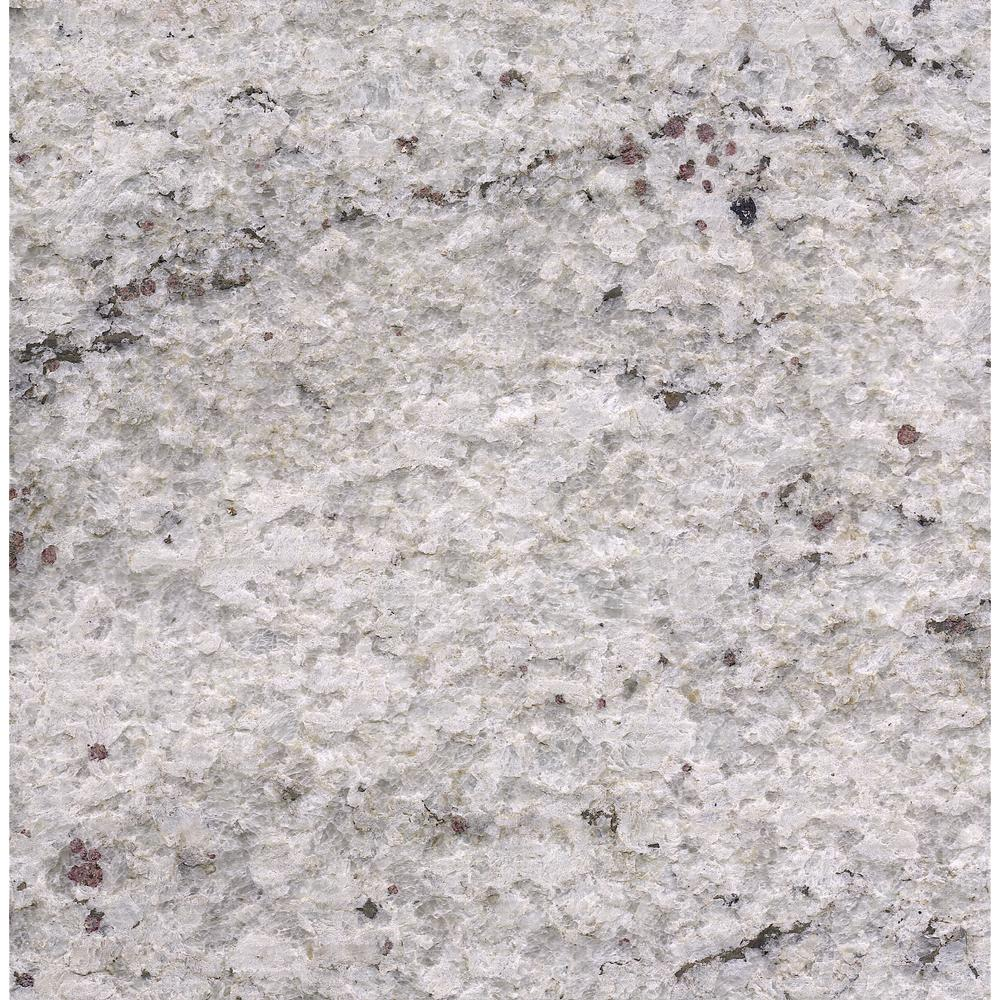 Stonemark Granite 3 In. X 3 In. Granite Countertop Sample In Cotton White  Satin