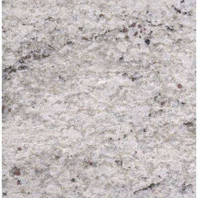 3 in. x 3 in. Granite Countertop Sample in Cotton White Satin