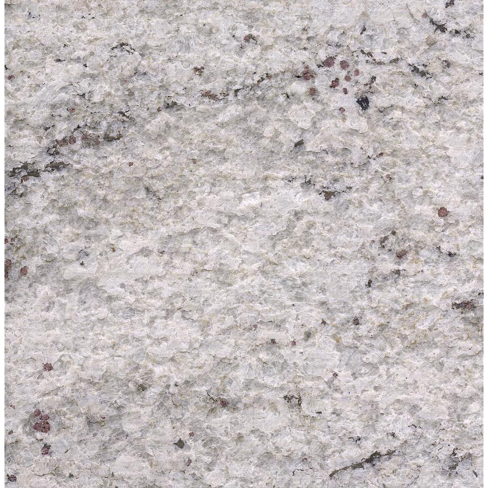 3 in. x 3 in. Granite Countertop Sample in Cotton White Satin