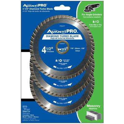 4.5 in. Turbo Diamond Blade (3-Pack)