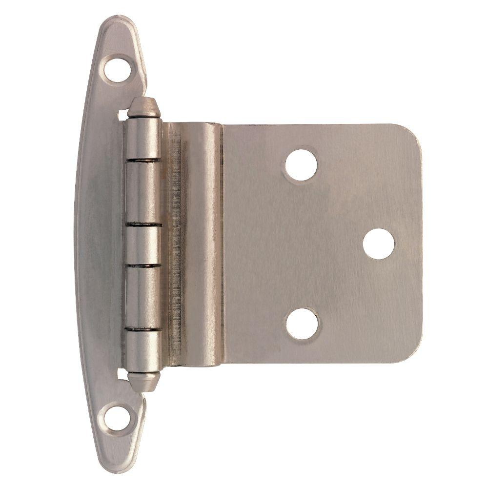 Enjoyable Liberty Satin Nickel 3 8 In Inset Cabinet Hinge Without Spring 5 Pairs Best Image Libraries Barepthycampuscom