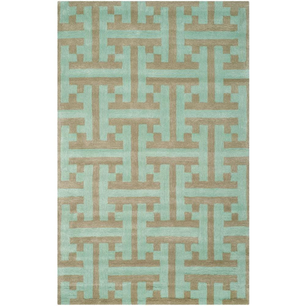 Soho Light Blue/Multi 5 ft. x 8 ft. Area Rug