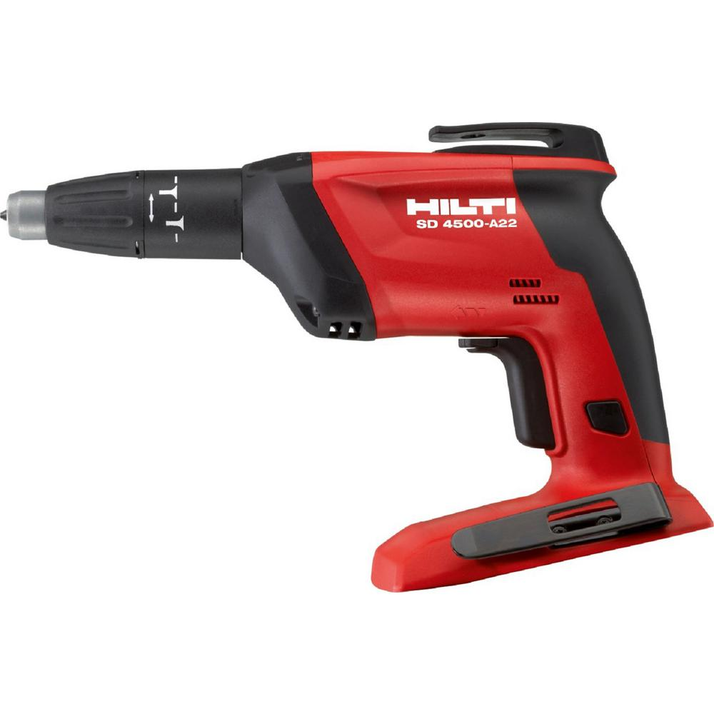 Hilti 22-Volt Lithium-Ion 1/4 in. Hex Cordless Compact High Speed Drywall Screwdriver SD 4500 Tool Body