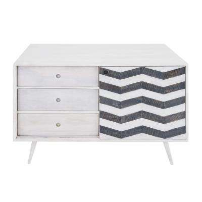 Olas Collection Mango White Sideboard