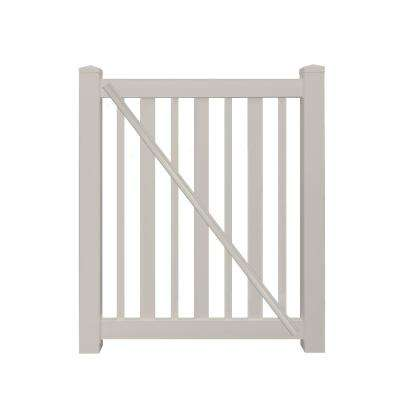Atlantis 4.5 ft. W x 4 ft. H Tan Vinyl Pool Fence Gate
