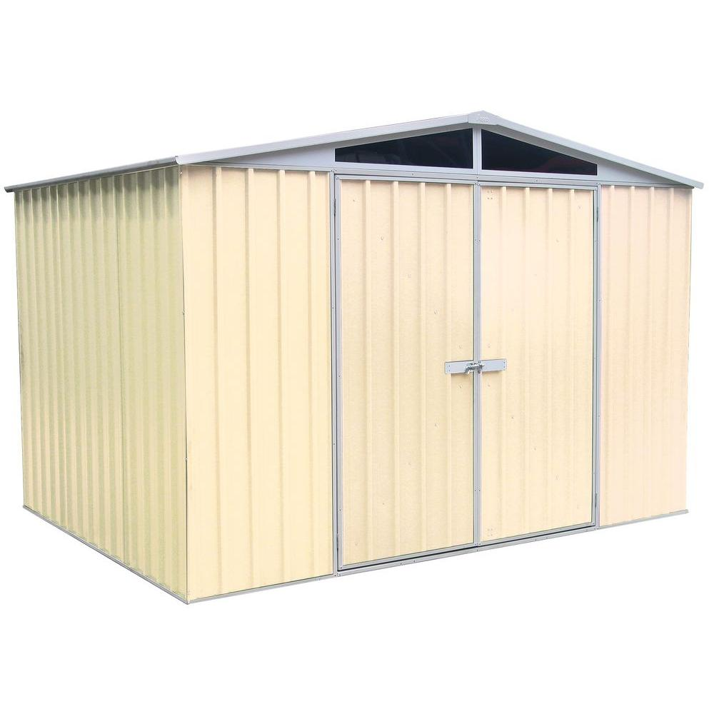 ABSCO 10 ft. x 7 ft. DayLite Classic Cream Garden Shed-DISCONTINUED