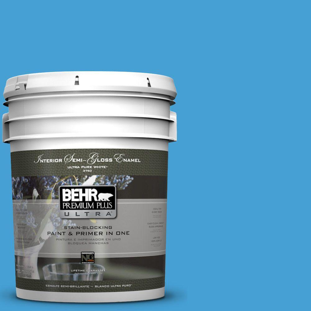 BEHR Premium Plus Ultra 5-gal. #P500-5 Peaceful River Semi-Gloss Enamel Interior Paint