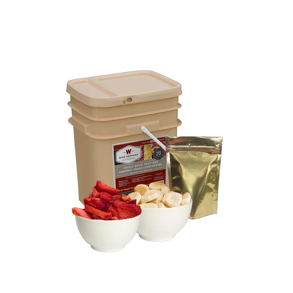 Wise Company 120-Serving Freeze-Dried Fruit and Snack Bucket