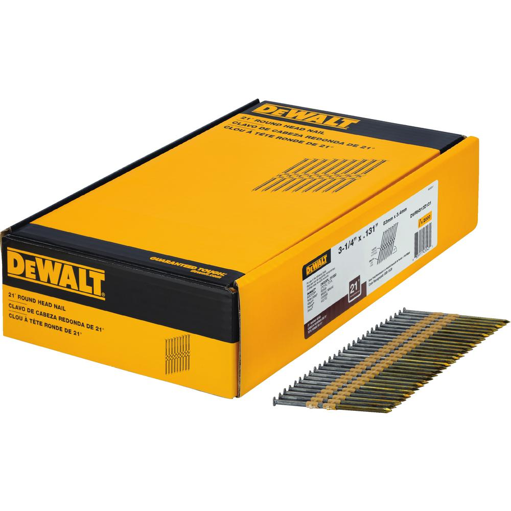 DEWALT 3-1/4 in. x 0.131 in. Metal Framing Nails 2000 per Box