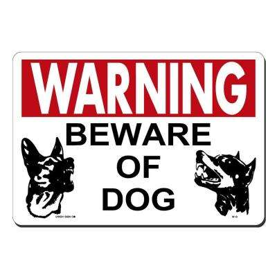 14 in. x 10 in. Beware of Dog Sign Printed on More Durable, Thicker, Longer Lasting Styrene Plastic