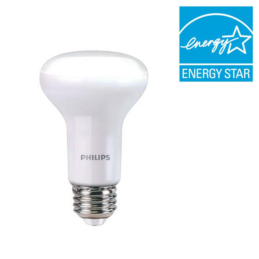 Philips 45 Watt Equivalent R20 Dimmable Led Energy Star Light Bulb Soft White With Warm Glow Effect