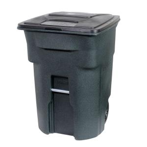 Toter 96 Gal. Green Trash Can with Wheels and Attached Lid by Toter