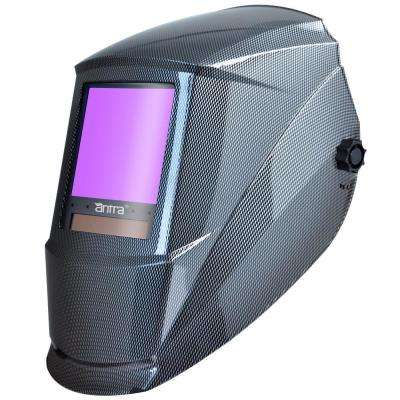 3.86 in. x 3.50 in. Solar Power Auto Darkening Welding Helmet with Large Viewing Size
