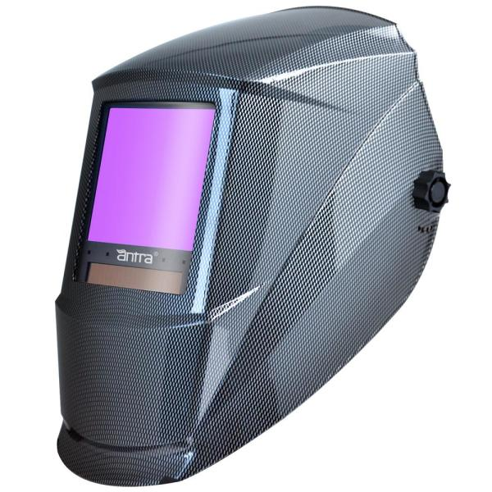 3.86 in. x 3.50 in. Solar Power Auto Darkening Welding Helmet with Large Viewing Size