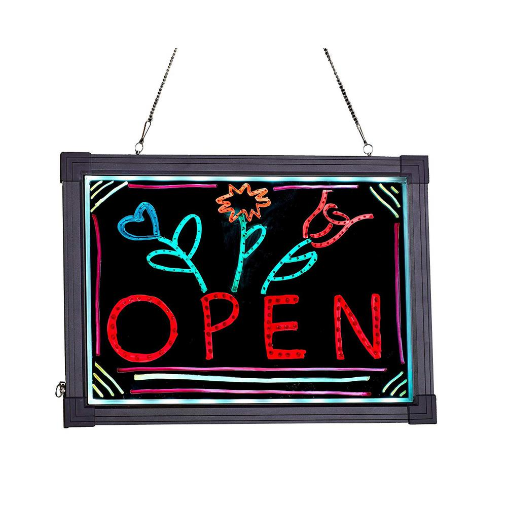 12 in. x 16 in. LED Illuminated Hanging Message Writing Board
