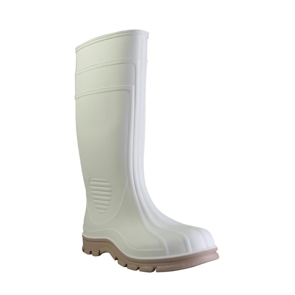 Men's Size 12 White Marine Tuff Steel Toe PVC Boot