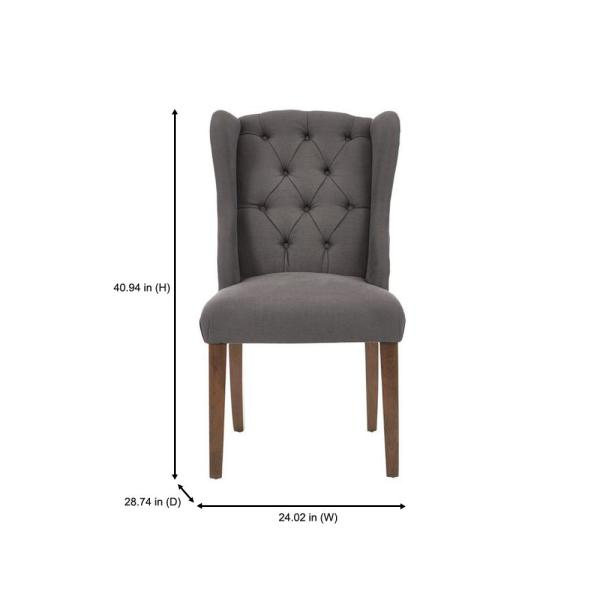 Home Decorators Collection Belcrest Sable Brown Wood Upholstered Dining Chair With Charcoal Seat Set Of 2 24 02 In W X 40 94 In H 4083 D Charcoal The Home Depot