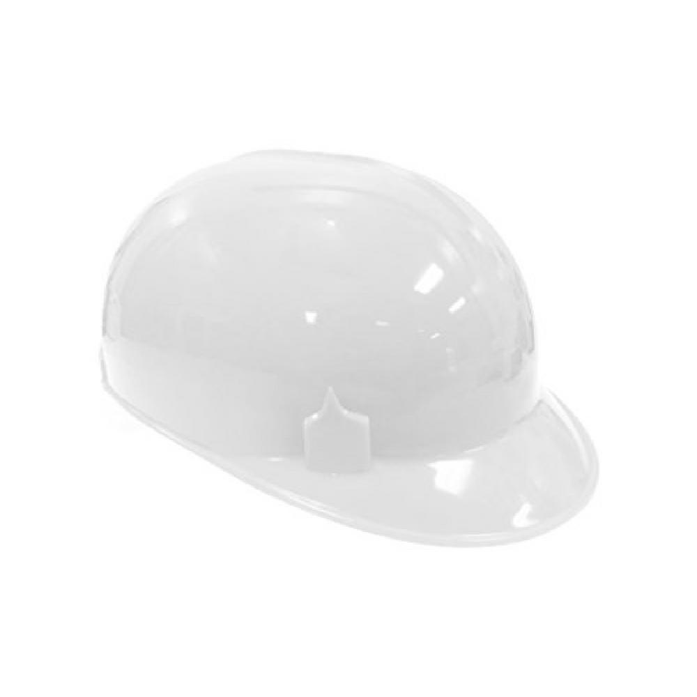 Safe Handler White HDPE Cap Style Bump Cap with 4-Point Pin Lock Suspension